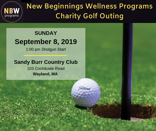 New Beginnings Wellness Programs Charity Golf Outing 2019 ad